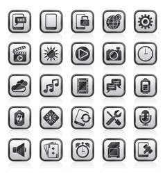 Mobile phone interface icons vector
