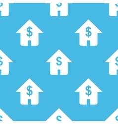 Blue house investment pattern vector