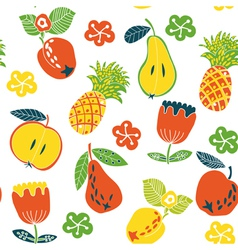 Fruits and berries pattern vector