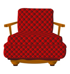 Red leather arm chair vector