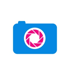 Photography logo in blue and pink vector