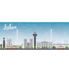 Lisbon city skyline vector