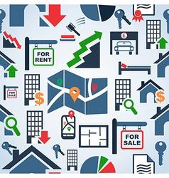 Property services market pattern vector