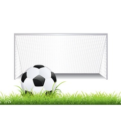 Soccer goal with ball2 vector