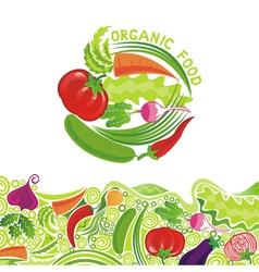 Organic food vector