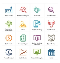 Personal business finance icons set 1 vector