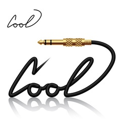 Jack connector cool calligraphy vector