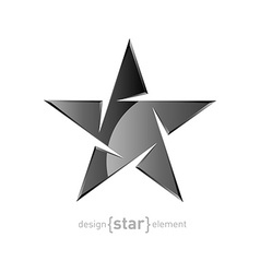 Metal abstract star on white background vector