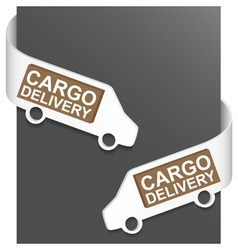 Left and right side sign - cargo delivery vector