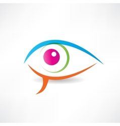 Abstract human eye icon vector