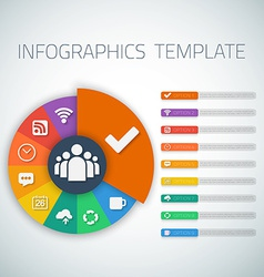 Web infographic timeline pie template layout with vector