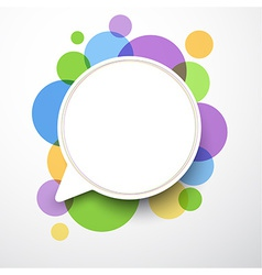 White round speech bubble vector