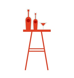 Drinks table vector