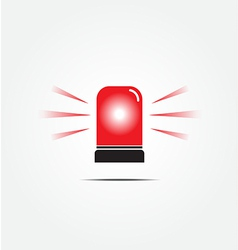 Emergency rotating beacon light vector