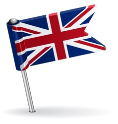 British pin icon flag vector