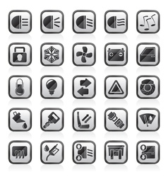 Car interface sign and icons vector