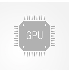 Gpu graphics processing unit icon vector