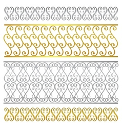 Fence damask artistic pattern vector