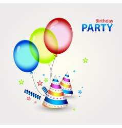 Happy birthday party decor vector