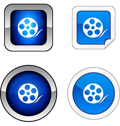 Media button set vector