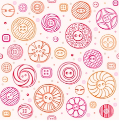 Sewing buttons seamless pattern vector