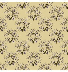Vintage seamless background with trees vector
