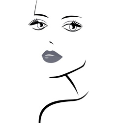 Fashionable girl abstract portrait vector