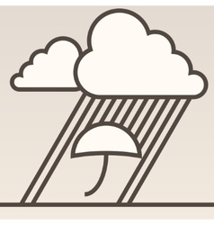 Rain background vector