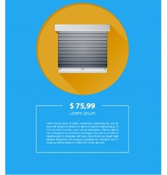 Ad layout for sale of window with roller shutters vector