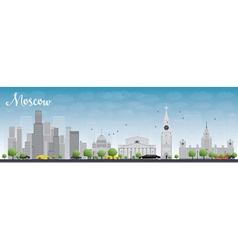 Moscow skyline with grey buildings vector
