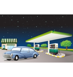 A house and a gas station vector