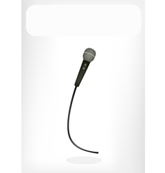 Wireless microphone white banner vector