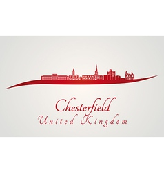 Chesterfield skyline in red vector