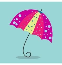 Multicolored umbrella-cane - a symbol of summer vector