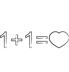 Love formula vector