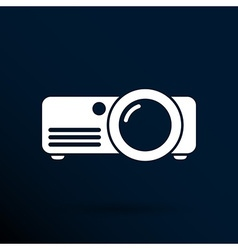 Projector icon rounded squares button symbol vector