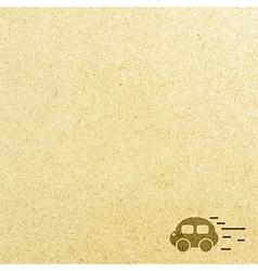 Car road and paper vector