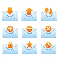 Internet icons  envelopes vector
