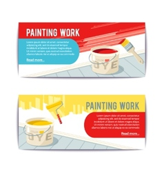 Painting work banners vector