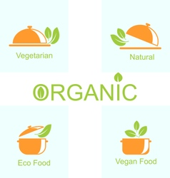Set of vegetarian food icons vector