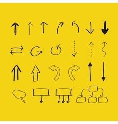 Hand drawn arrows and block scheme elements vector