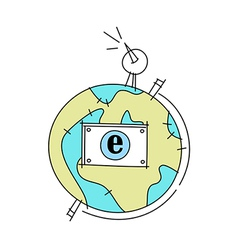 World communication globe vector