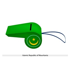 A whistle of islamic republic of mauritania vector