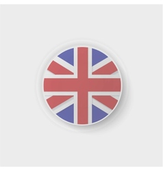 Britain flag button vector