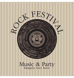 Rock music party vector