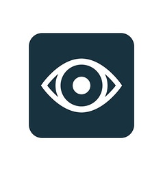 Eye icon rounded squares button vector
