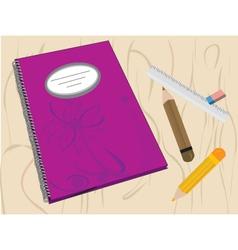 Writing journal vector