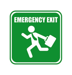 Emergency exit design vector