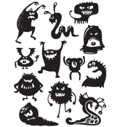 Monsters bacteria vector