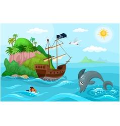 Pirates ship vector